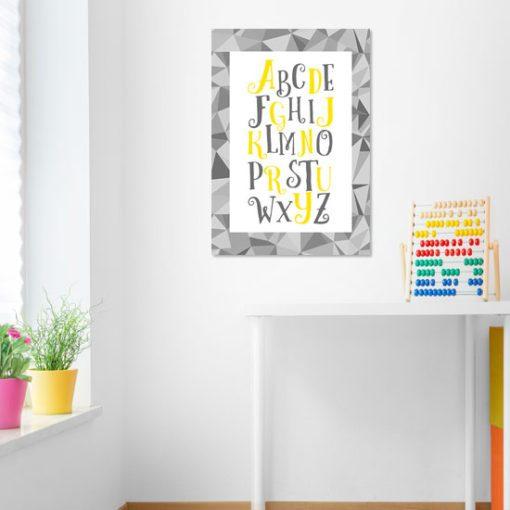Plakat z literami do pokoju dziecka
