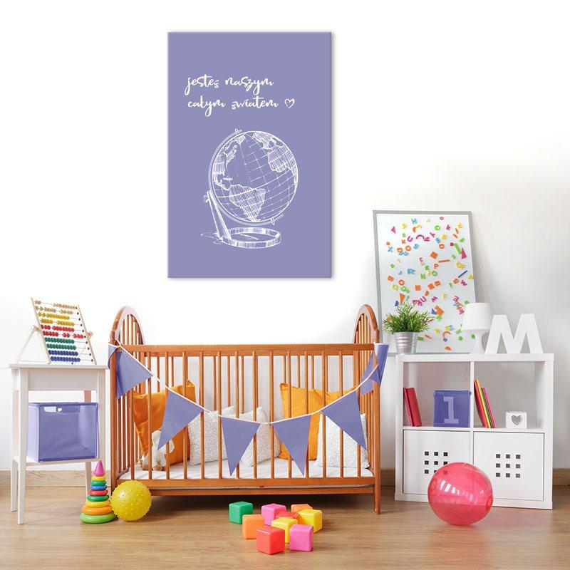 globus na obrazku dzieciecym