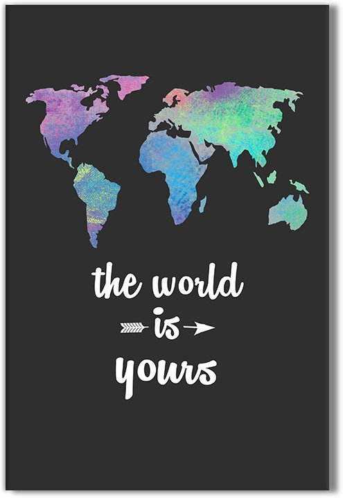 obraz z napisem the world is yours