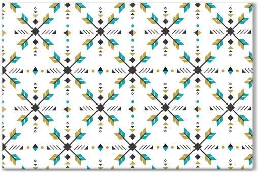 Dekoracja zielone wzory
