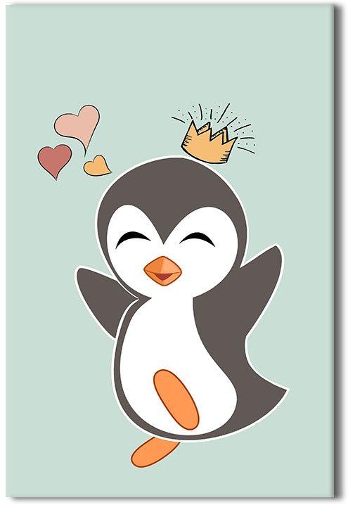 Obraz z wesołym pingwinkiem