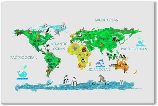 Obraz z kolorową mapą
