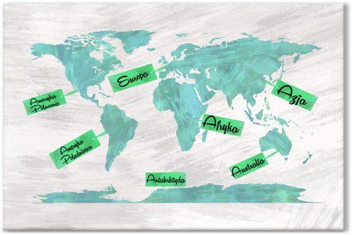 Obraz mapa świat dla dzieci