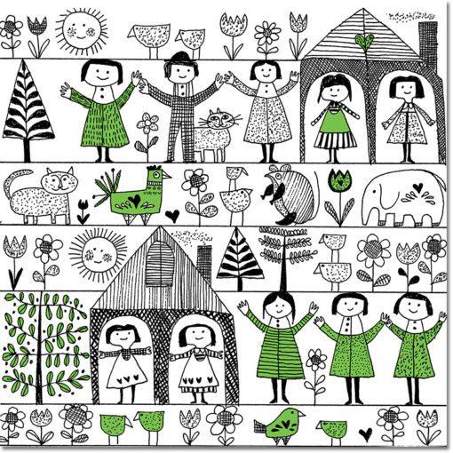 Obraz z wesołymi dziećmi
