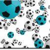 Obraz turkusowa piłka nożna