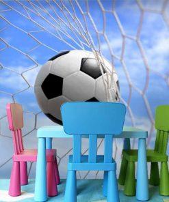fototapeta z motywem piłki nożnej