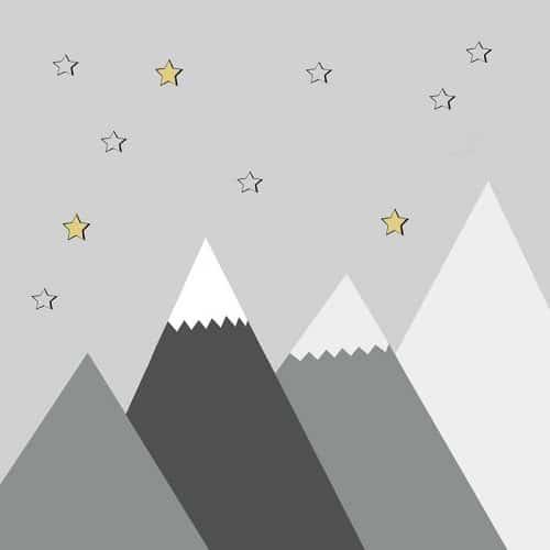 dekoracja ścienna z górami