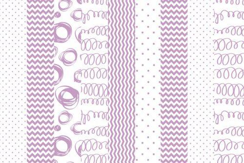 kropki i zygzaki różowe fototapeta