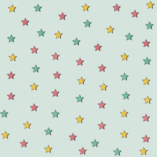 Dekoracja z motywem gwiazd do pokoju dziecięcego