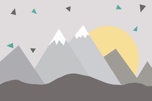 Dekoracja ścienna z motywem gór