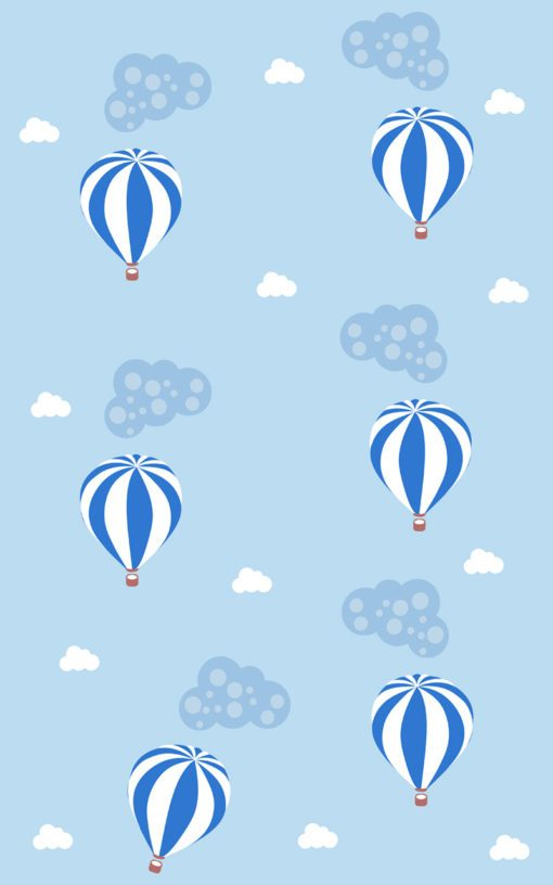 Uroczy motyw balonów na dekoracji ściennej do pokoju dziecka