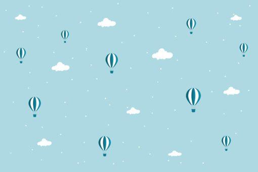 Ozdoba do pokoju dziecka w formie tapety - balony na niebie