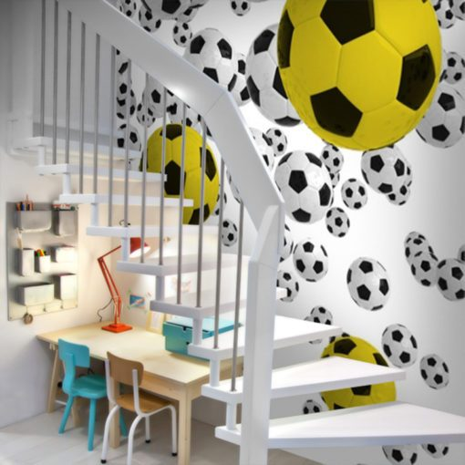 Tapeta dla chłopca żółta piłka
