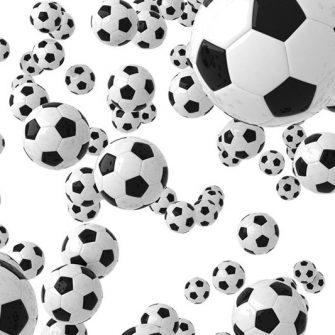 fototapeta z piłką do gry