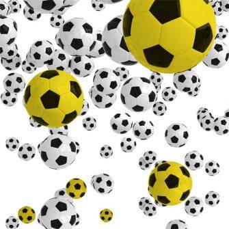 Dekoracja z piłką do gry
