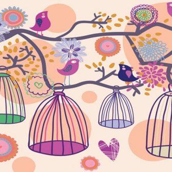 Dekoracja z ptaszkami