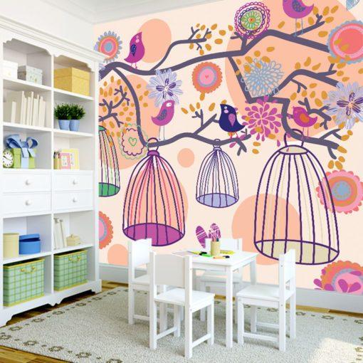 Dekoracja dla dzieci z ptaszkami
