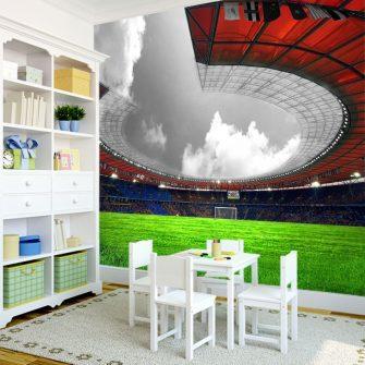 Dekoracja dla chłopca ze stadionem piłkarskim