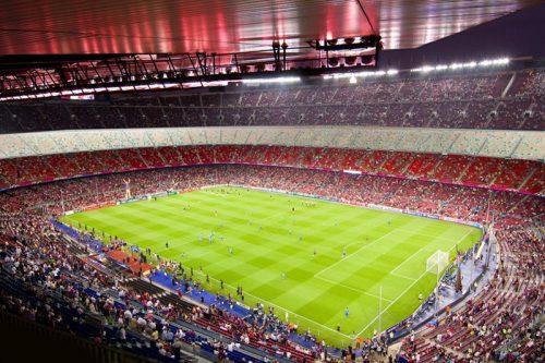 Fototapeta ze stadionem piłkarskim