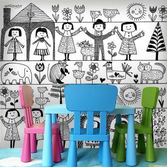 Fototapeta dzieci na podwórku