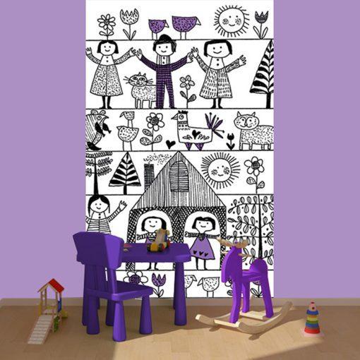 Fototapeta - dziecięca kraina dla maluchów