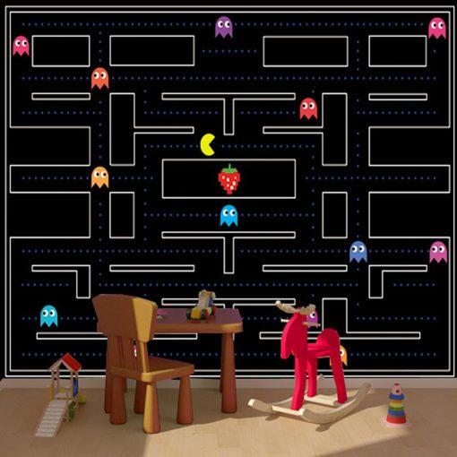 Pac-Man jako motyw dekoracji ściennej
