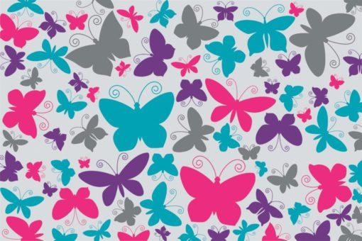 Dekoracja kolorowe motylki