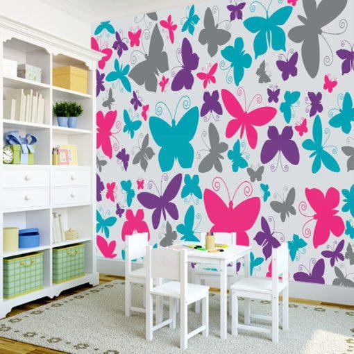 Foto-tapeta kolorowe motylki