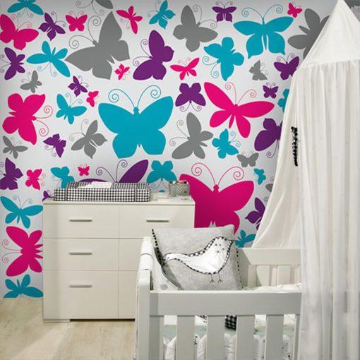 Dekoracja z motylkami