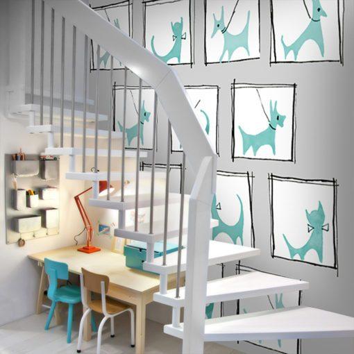 Dekoracja do pokoju dziecka z pieskami