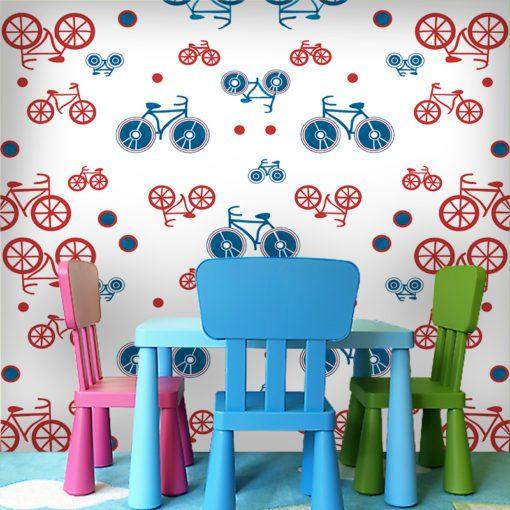Kolorowe rowery na tapecie
