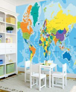 Dekoracja z motywem mapy świata