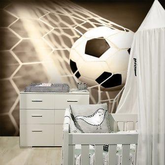 Dekoracja z piłką w siatce dla chłopca
