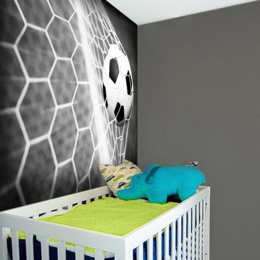 Piłka nożna na fototapecie do pokoju dziecka