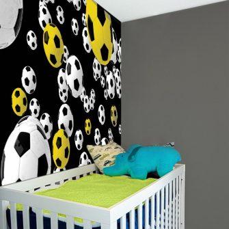 Ozdoba z motywem latających piłek do pokoju dziecka
