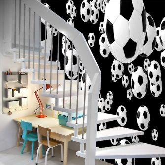 Piłki do pokoju dziecka w formie tapety