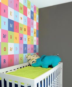 Fototapeta z kolorowymi literami