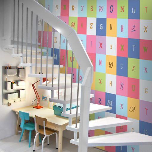 Fototapeta w litery do ozdoby dziecięcych pokoików