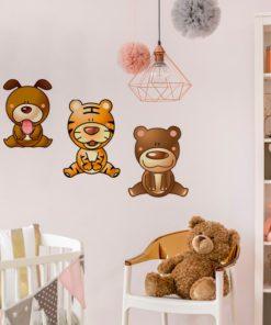 Naklejki wesołe zwierzaki na ścianę