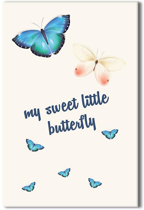 Obraz z motylkami i napisem
