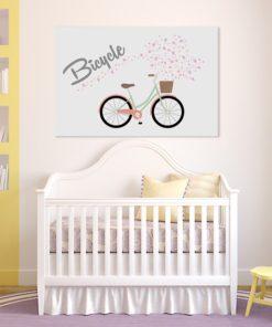 obraz z rowerem i serduszkami
