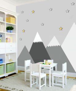 góry ze śniegiem na ścianę dla dziecka