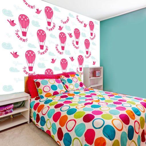 tapeta z różowymi balonami