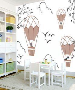Tapeta z motywem baloników dla chłopca i dziewczynki