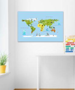 Obra z mapa świat