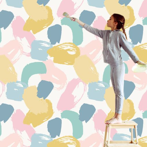 Tapeta z ciekawym wzorkiem do pokoju dziecka