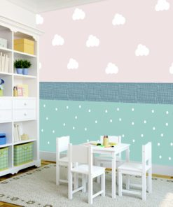 Fototapeta z uroczym wzorem do pokoju dziecka