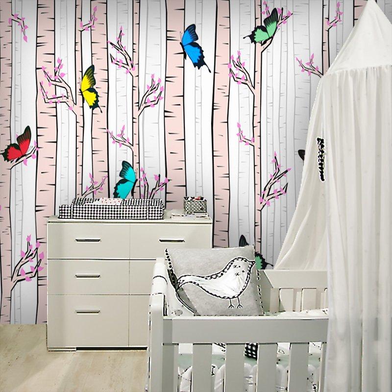 Tapeta z bajkowym lasem do pokoju dziecięcego