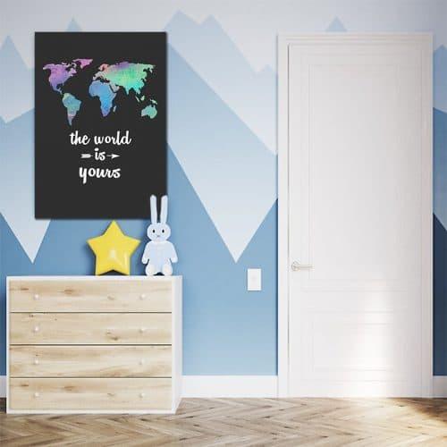 obraz z mapa dla dzieci