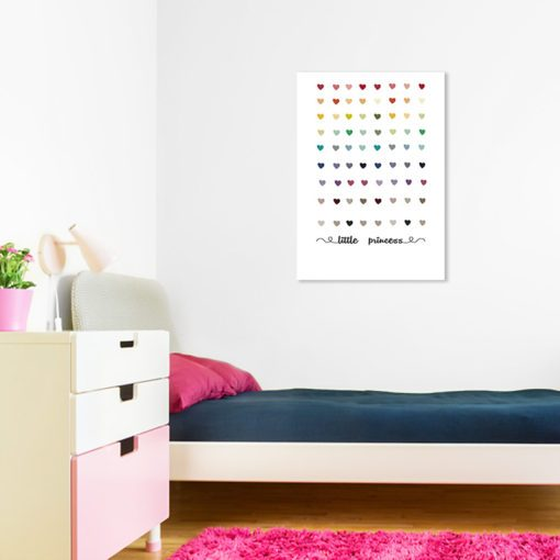 obrazek z napisem i serduszkami dla dziewczynki